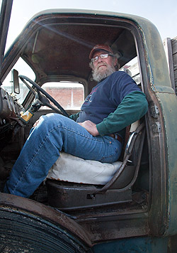 Dave in his GMC cab-over-engine